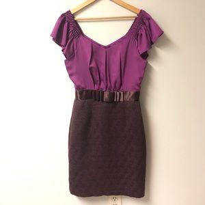 Max & Cleo purple cocktail dress size 4